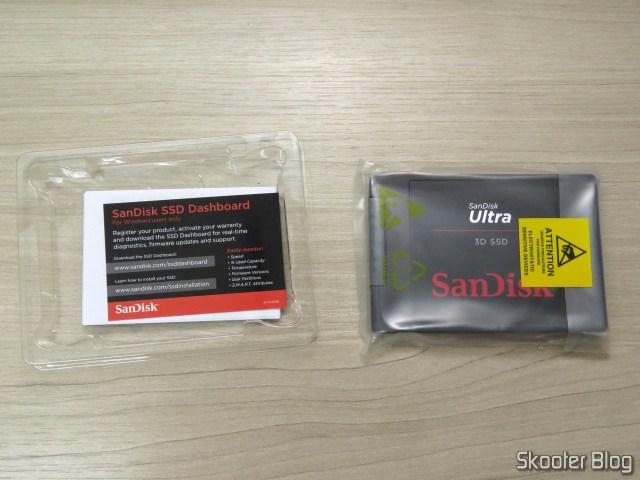 SanDisk 1TB Ultra 3D NAND SATA III SSD - 2.5-inch Solid State Drive - SDSSDH3-1T00-G25, em sua embalagem.