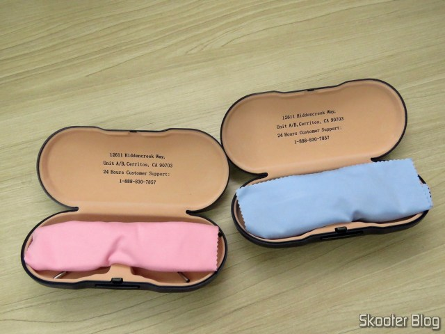 Eyeglasses Lens 1.67 Super thin and sunglasses with Degree, in their cases.