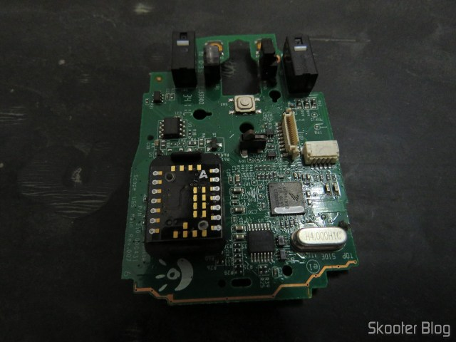 Placa do Mouse Logitech G9x, antes do reparo.