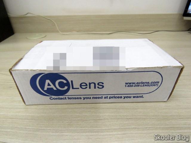 Caixa da AC Lens com as Lentes de Contato Asféricas Coopervision Frequency 55 Aspheric + Estojo para Lentes de Contato.