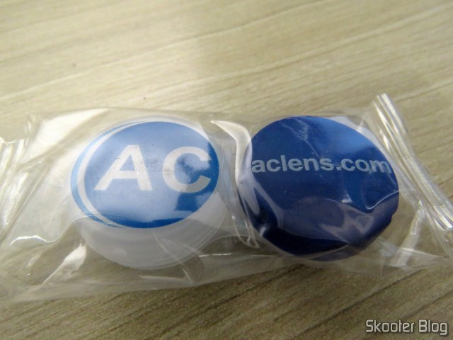 Case for contact lenses from AC Lens.