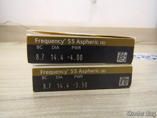 Lentes de Contato Asféricas Coopervision Frequency 55 Aspheric.