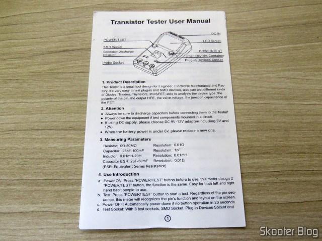 Manual de instruções do BSIDE ESR02 Pro.