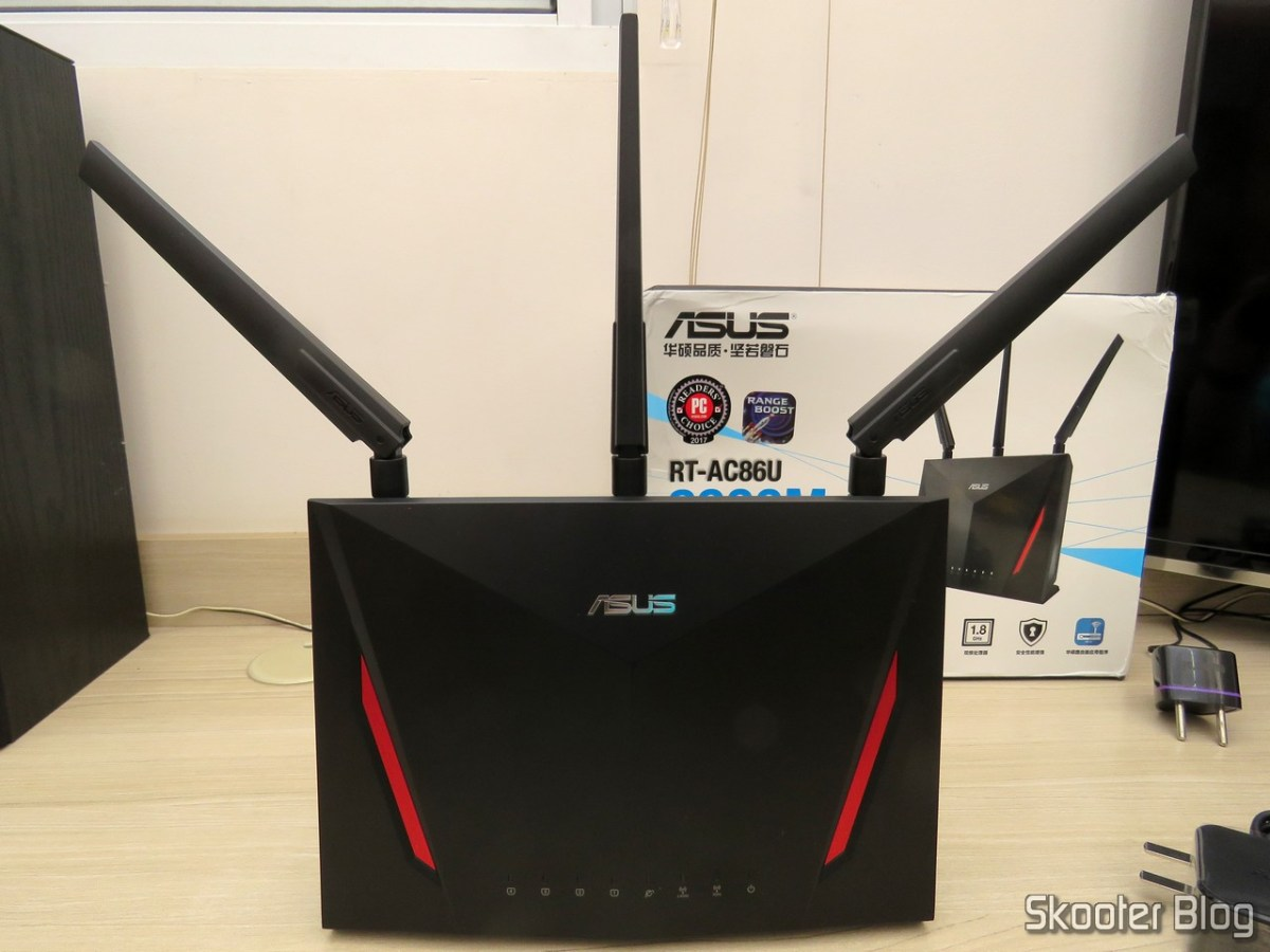 [Review] Roteador ASUS RT-AC86U - Wireless-AC2900 Dual Band Gigabit Router - AliExpress