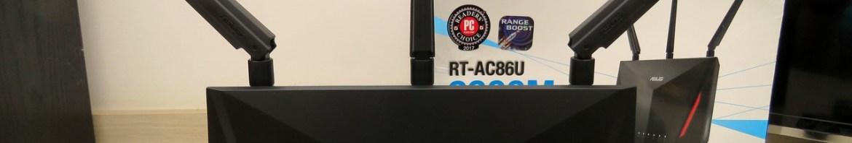 Roteador ASUS RT-AC86U.