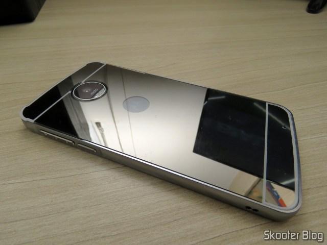 Cover-luxury Metal Mirror Bumper for Motorola Moto Z Play