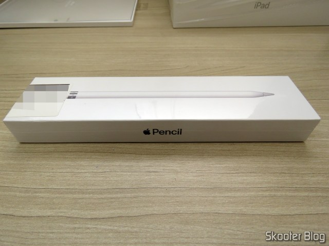 Apple Pencil para iPad MKC0C2LZ/A, on its packaging.