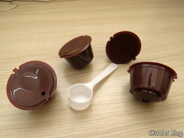 Conjunto com 4 Cápsulas Recarregáveis 200 vezes para Nescafé Dolce-Gusto.