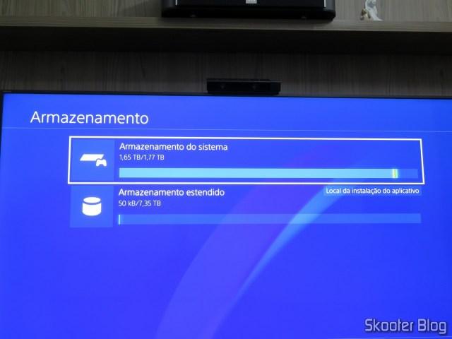 HD Externo Seagate Expansion 8TB em funcionamento.