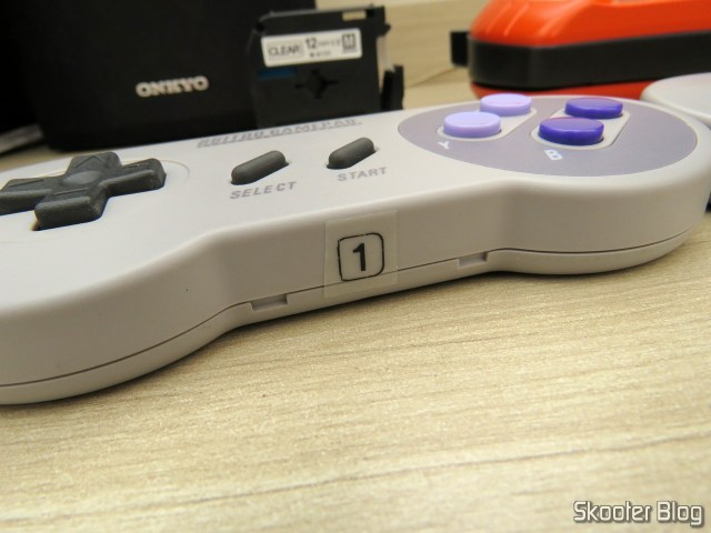 printed adhesive tape to the labeler for Brother Transparent 12mm M-K131, pasted into 8bitdo SNES30 GamePad.