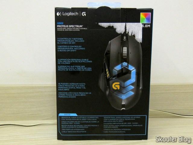 Gamer Mouse G502 Proteus Spectrum 12.000 DPI - Logitech G, on its packaging.