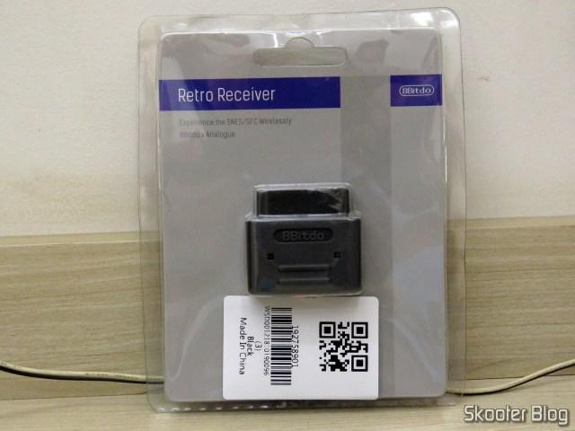 3º Retro Receiver SNES da 8bitdo, em sua embalagem.