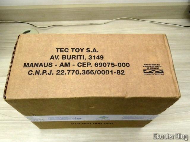 Caixa da Tec Toy com o novo Pense Bem.