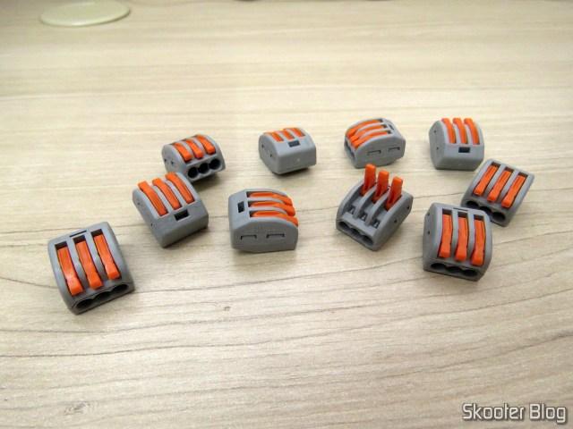Conector Wago Borne 3 Fios - Kit Com 10 peças.