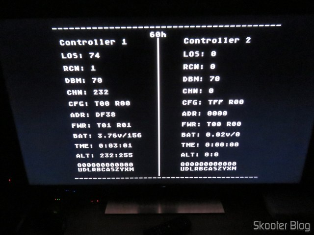 Joyzz running on my Sega Genesis, with the ROM information.