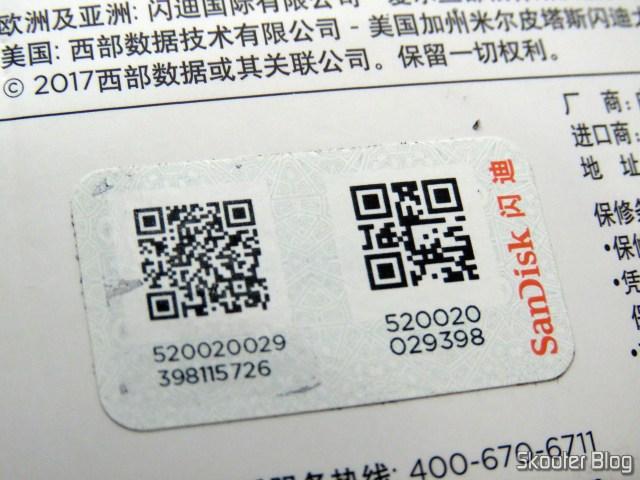 Sandisk microSDHC verification seal Ultra UHS-1 32 GB - AliExpress (original), on its packaging.