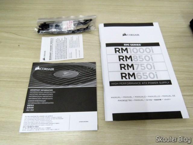 Manuais e Folhetos da Fonte de alimentação Corsair RMi Series™ RM850i.