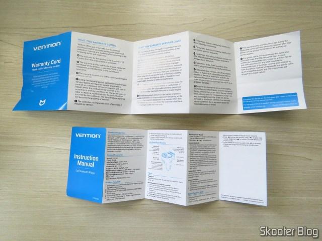Manual de Instruções e Certificado de Garantia do Vention Car Bluetooth Player Multifunção.