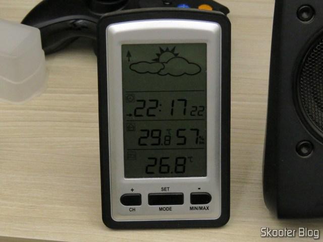 Temperatura ambiente após a instalação dos ventiladores, apenas para controle.