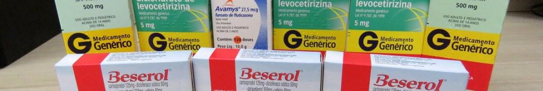 3x Beserol, 2x Ácido Mefenâmico, Avamys, 3x Dicloridrato de Levocetirizina.