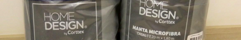 Mantas Casal 180x220 Microfibra Home Design Indigo e Marinho, em suas embalagens.