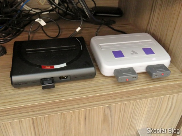 Analogue Mega Sg, next to the Analogue Super Nt.