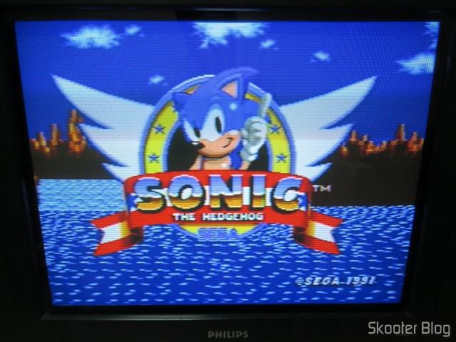Imagem do Sega Genesis, instalado na TV CRT, via vídeo composto.