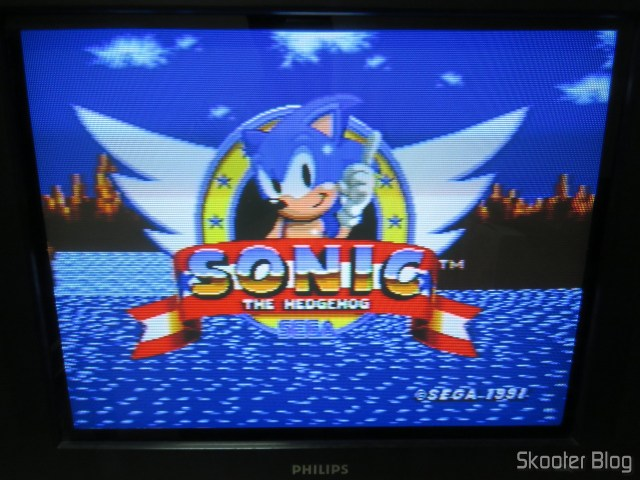 Sega Genesis image, installed in CRT TV, via vídeo compound.