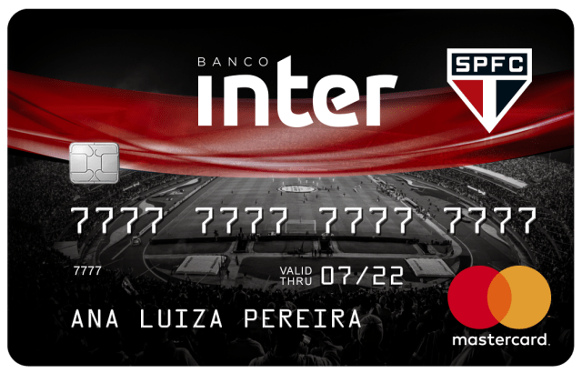 Inter Bank's credit card for supporters of Sao Paulo.
