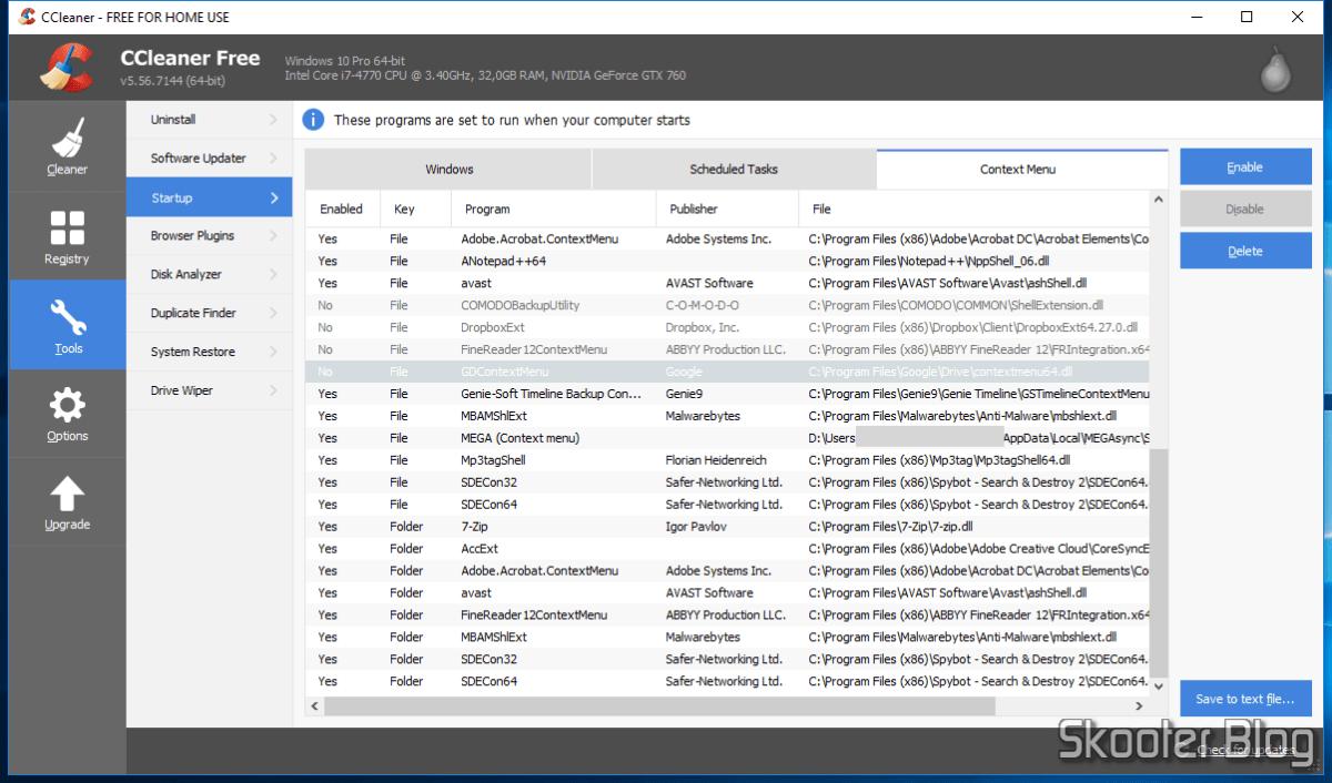 Menu de Contexto do Windows 10 fecha antes que um item seja selecionado