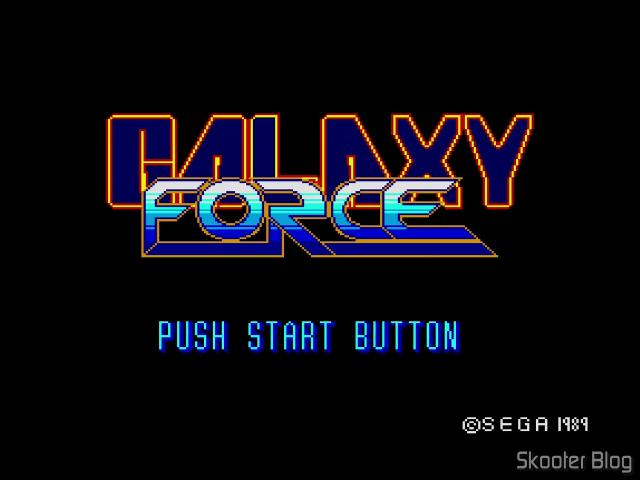 Tela de abertura do Galaxy Force no Master System.