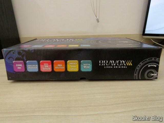 Par de Alto Falantes Triaxial Bravox Linha Original 6 Pol B3X60 VWGol, em sua embalagem.