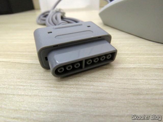 Plug do Mouse Óptico para Super Nintendo Hyperkin Click Retro Style Mouse.