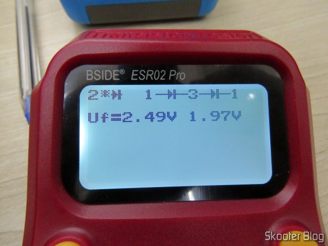 Measuring capacitor C218 with Bside ESR02 Pro.