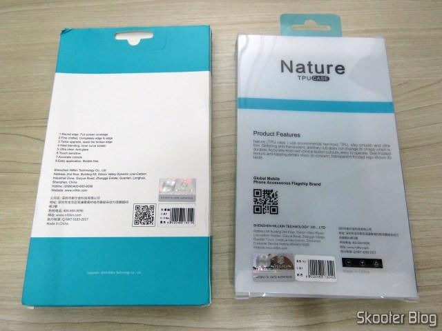 Capa de TPU Macia Nillkin para o Xiaomi Mi 9 e Película de Vidro Cobertura Total Nillkin para Xiaomi Mi 9.