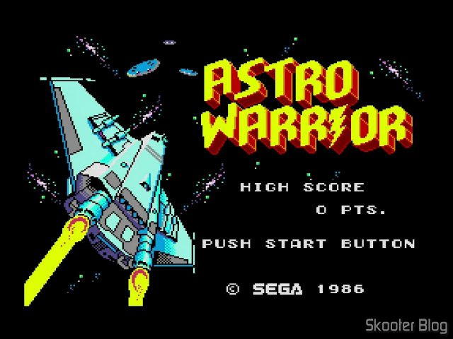 Astro Warrior Opening Screen - Master System.