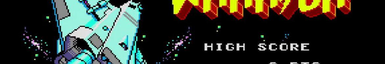 Tela de Abertura do Astro Warrior - Master System.