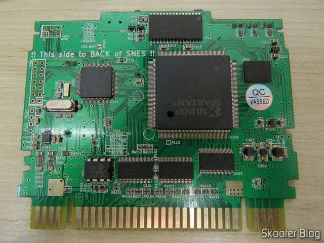 A placa do SD2SNES, Rev. E1.