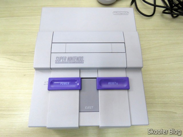 Super Nintendo, after cleaning.