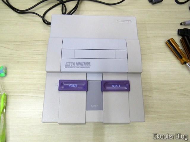 Parte de cima do Super Nintendo Original NTSC PCB SHVC-CPU-01 CPU/PPU1/PPU2 2/1/3.