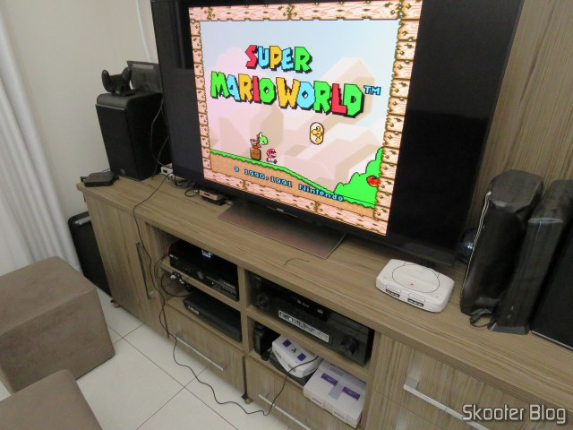 Super Nintendo Original NTSC PCB SHVC-CPU-01 CPU/PPU1/PPU2 2/1/3, TV Sony 4K through Framemeister.