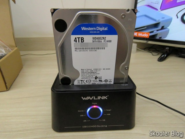 HDD Western Digital Blue 4TB WD40EZRZ, no Wavlink USB 3.0 Dual Bay Docking Station.