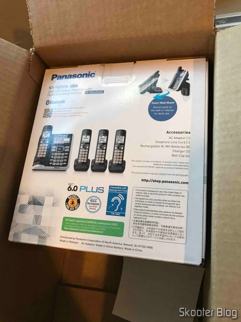 Picture of my phones System Wireless Panasonic KX-TGF574S, taken by the Direct Shipping.