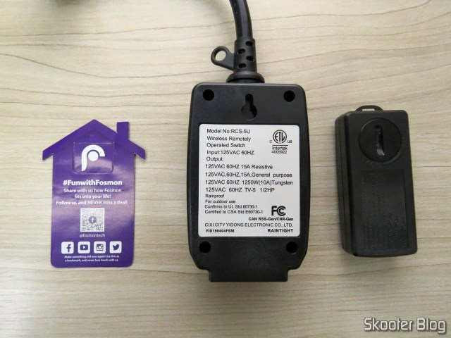 Fosmon Wireless Remote Control Outlet C-10683.