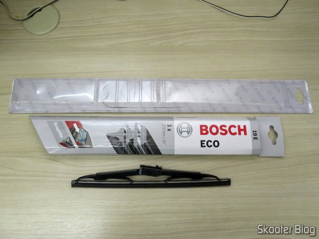 Reed Rear Wiper Original Bosch Eco 10E, and its packaging.