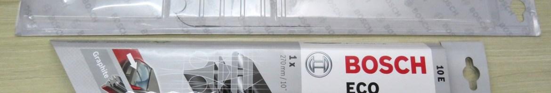 Palheta do Limpador Traseiro Original Bosch Eco 10E, e sua embalagem.