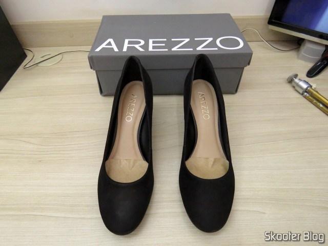 Pumps Nubuck Heels Medium Black - Arezzo - A1027300260004U36