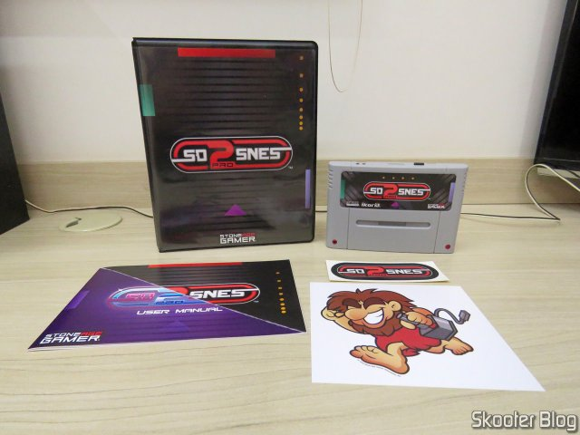 SD2SNES Pro Deluxe and accessories.