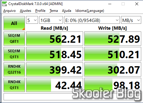 SSD test m.2 2242 KingSpec 1TB NGFF no CrystalDiskMark, still as secondary SSD.