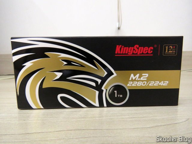 SSD m.2 2242 KingSpec 1TB NGFF, on its packaging.